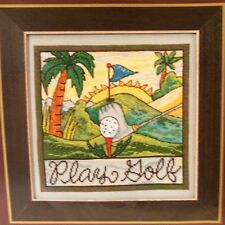 "Cross Stitch Kit Sticks by Mill Hill ""PLAY GOLF"" #ST30-5101 Kit"