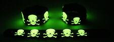 Skull NEW! Glow in the Dark Rubber Bracelet Wristband SKULL GG305