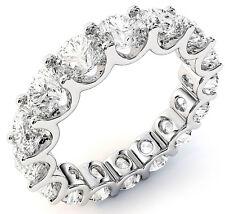 "5.51 ct Round Diamond Eternity Ring Platinum Band 17 x 0.32 ct ""U""shape VS/SI1"