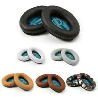 H3E# 1 Pair Replacement L/R Leather Ear Pads Cushion for Bose QC25 Headphones