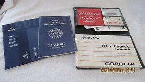 2005 Toyota Corolla Owners Manual