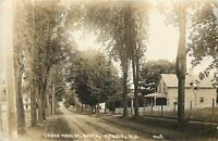 Argyle NY Dirt Roads Passed Fenced in Homes on Main St~Sepia RPPC c1909