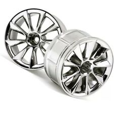 HPI 33463 Lp32 Wheels (2) ATG RS8 Chrome 1/10 RS4 Nitro 3 / Sprint2 / E-10