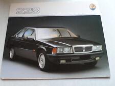 Prospekt Maserati 228 2,8 l 225 und 250 PS, 1988, 6 Seiten, folder, englisch