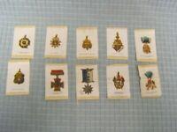Vintage Lot of 10 Fraternal Organizations Tobacco Silks Old Mill Cigarettes VA
