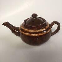 Vintage! Mid-Century Tea Pot Made In German Democratic Republic. Brown Ceramic