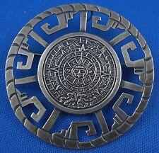 Brosche Design Maya Mexico RAR 925er Silber