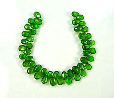 "CHROME DIOPSIDE faceted pear beads AA+ 7-8mm 5.5"" strand"