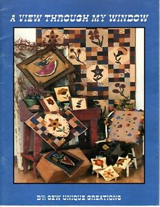 Sew Unique Creations - A View Through My Window - Quilt Pattern Book