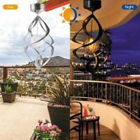 Solar LED Windspiel Licht Garten Hängen Solarwindspiel Glockenspiel Lampe Dekor