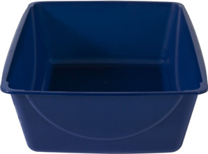 Petmate Basic Jumbo Cat Litter Box Pan For Big Cats, Sapphire Blue, 22 Inches ✔️