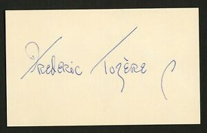 Frederic Tozere d1972 signed autograph auto 3x5 index card The Iron Curtain C727