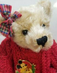 "Sue Quinn ""Marion"" DISNEY LE Dormouse Designs artist teddy bear 10"""