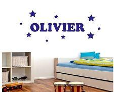 Name Wall Stickers Personalised Bedroom Boys Art Bedroom Kids Bedroom STARS