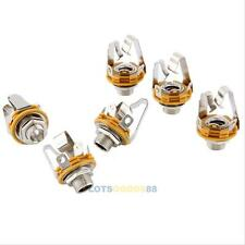 """6x Electric Guitar Socket Switchcraft 1/4"""" Input Output Jack Replacement Parts #"""