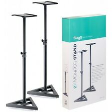 Stagg SMOS-10 Set Heavy Duty DJ Home Studio Monitor Speaker Stands (Pair)