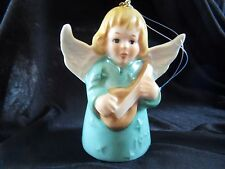 Vtg West German 1977 Goebel Green Angel Bell Ornament