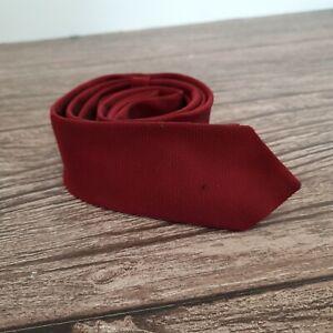 Topman Mens Burgandy Red Smart Skinny Slim Tie