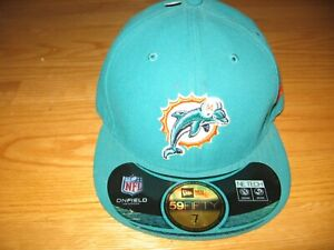 MIAMI DOLPHINS NEW WITH TAGS $34.99 NEW ERA 59FITY NFL ON FIELD BASEBALL HAT