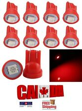 10pcs Red T10 194 168 1SMD LED Car Auto Side Lamp Dome Wedge Light Bulb