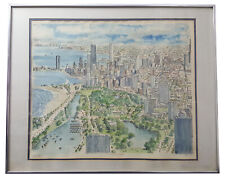 """""""CHICAGO VIEW"""" LIMITED EDITION WATERCOLOR LITHOGRAPH S/N RENOWN ARTIST M. ELICH"""