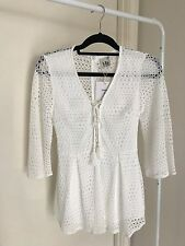 womens white playsuit