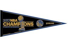 """2017 12x30 Golden State Warriors Championship Chaps Pennant """"Locker Room Style"""""""