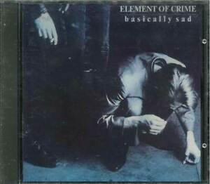 "ELEMENT OF CRIME ""Basically Sad"" CD-Album"