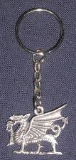 Grey Pewter Welsh Dragon Wales keyring
