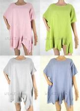 Unbranded Linen Short Sleeve Tops & Blouses for Women