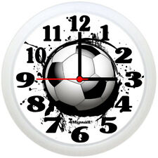 "Football wall clock with ink splash effect, 9"" in"