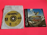 🔥 SONY PS1 PlayStation One PSX 💯 WORKING GAME Disc/Book Only 🔥 TONY HAWK 2