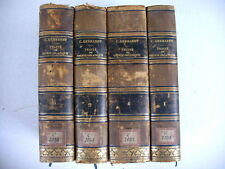 TRAITE CHIMIE ORGANIQUE Ch. Gerhardt 4/4 vol 1853