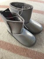 Swiggles Toddler Girls Silver Sparkle Boots Size 8 ~ New With Tags! Cute Cute !