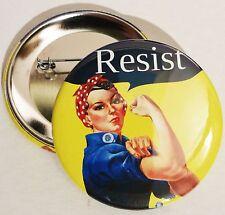 "Resist - Rosie the Riveter - Anti Trump  2.25"" pinback button"