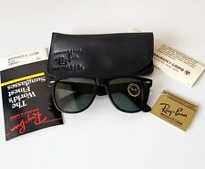 Vintage NOS 80s B&L RAY-BAN Wayfarer II L1724 G-15 Ebony 54mm Sunglasses USA