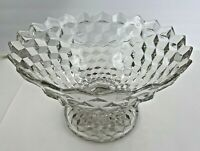 """Fostoria American Tom & Jerry Footed Punch Bowl Pedestal Center Piece 12"""" x 8"""""""