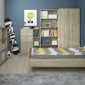 Living and Bedroom Furniture Oak or White TV Bed Cabinets Storage Table Cupboard