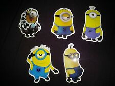 LAPTOP STICKERS MINIONS STYLE CAR SKATEBOARD INSTRUMENT CASE DECALS LOT OF 5