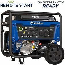 portable generator 7500w gas push button wireless remote start westinghouse