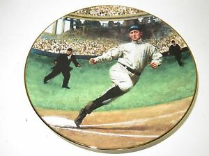 "Vintage DELPHI ""Ty Cobb The Georgia Peach"" Legend of Baseball LE Plate #3556D"