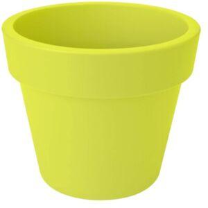 LARGE 47cm Round Barrel Planter Plastic Plant Pot Lime Green 42 Litre