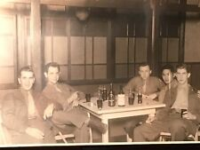 VINTAGE MILITARY 8th ARMY WWII SOLDIERS  COCA COLA BOTTLES PHOTO CIGAR WHISKEY