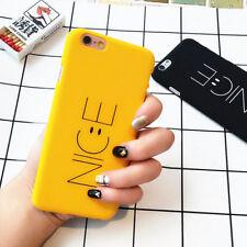 NICE mate dura PC cover Funda Carcasa para iPhone 6 6s 7 Plus - amarillo negro
