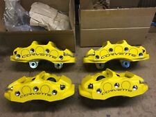 2006-2014 C6 Z06 Grand Sport Yellow Caliper Set Front & Rear NEW Genuine GM
