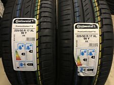 2 x 225 50 17 XL 98Y FR Continental PremiumContact 6 - Brand New -