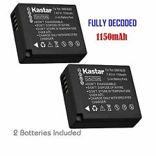 2x Kastar Battery for Panasonic Lumix DMW-BLE9 DMC-GF3 DMC-GF5 DMC-GF6 DMC-GX7