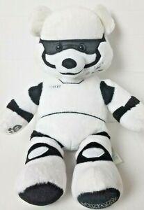 "Star Wars Stormtrooper Plush Build A Bear White Black Stuffed 18"" Force Awakens"