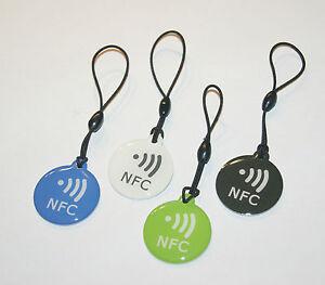 NFC Tag NTAG203 4er Set Schlüsselanhänger - FÜR ALLE NFC GERÄTE !!