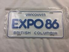EXPO 86 License Plate Mint Condition Never Used